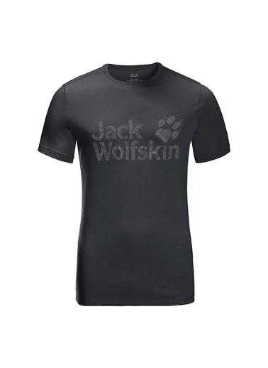 Jack Wolfskin Jack Wolfskın Wolf Logo T Erkek T-Shırt Siyah